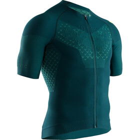 X-Bionic Twyce G2 Maillot de cyclisme Manches courtes Zip Homme, pine green/amazonas green